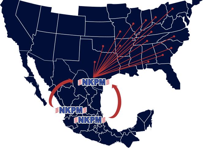 Rutas entre México y Estados Unidos   NKPM